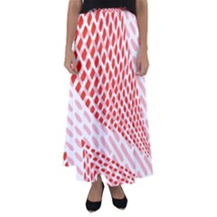 Waves Wave Learning Connection Polka Red Pink Chevron Flared Maxi Skirt