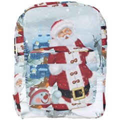 Funny Santa Claus With Snowman Full Print Backpack