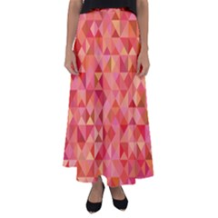 Mosaic Pattern 6 Flared Maxi Skirt