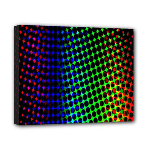Digitally Created Halftone Dots Abstract Background Design Canvas 10  X 8