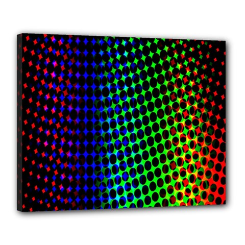 Digitally Created Halftone Dots Abstract Background Design Canvas 20  X 16