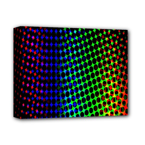 Digitally Created Halftone Dots Abstract Background Design Deluxe Canvas 14  X 11