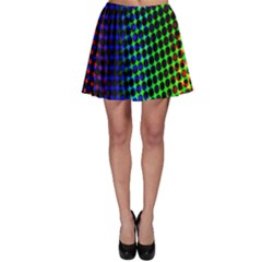 Digitally Created Halftone Dots Abstract Background Design Skater Skirt