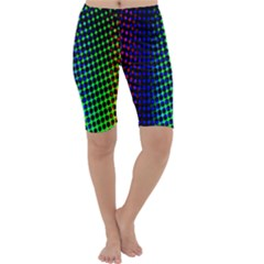 Digitally Created Halftone Dots Abstract Background Design Cropped Leggings