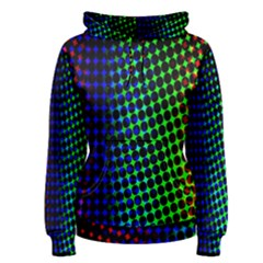Digitally Created Halftone Dots Abstract Background Design Women s Pullover Hoodie