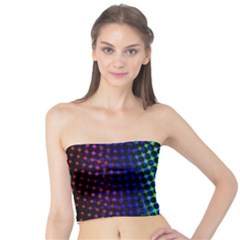 Digitally Created Halftone Dots Abstract Background Design Tube Top