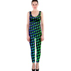 Digitally Created Halftone Dots Abstract Background Design Onepiece Catsuit