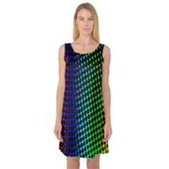 Digitally Created Halftone Dots Abstract Background Design Sleeveless Satin Nightdress