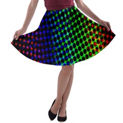 Digitally Created Halftone Dots Abstract Background Design A Line Skater Skirt