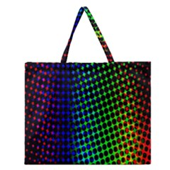 Digitally Created Halftone Dots Abstract Background Design Zipper Large Tote Bag