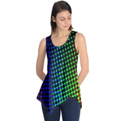 Digitally Created Halftone Dots Abstract Background Design Sleeveless Tunic