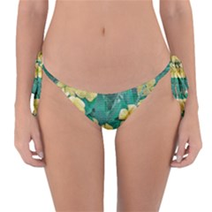 Yellow Flowers At Nature Reversible Bikini Bottom