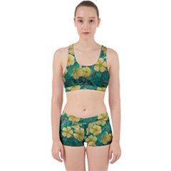 Yellow Flowers At Nature Work It Out Sports Bra Set