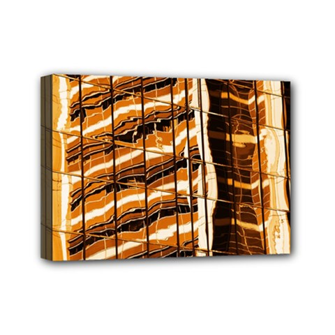 Abstract Architecture Background Mini Canvas 7  X 5