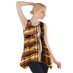 Abstract Architecture Background Side Drop Tank Tunic