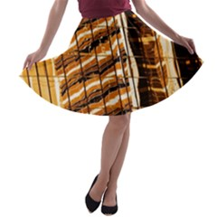Abstract Architecture Background A Line Skater Skirt