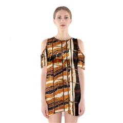 Abstract Architecture Background Shoulder Cutout One Piece