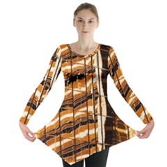 Abstract Architecture Background Long Sleeve Tunic
