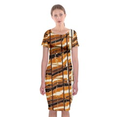 Abstract Architecture Background Classic Short Sleeve Midi Dress