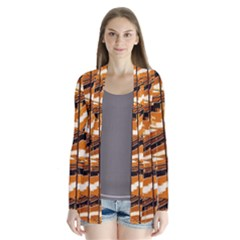 Abstract Architecture Background Drape Collar Cardigan