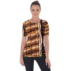 Abstract Architecture Background Short Sleeve Top