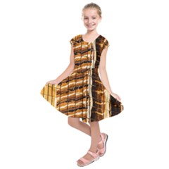 Abstract Architecture Background Kids  Short Sleeve Dress