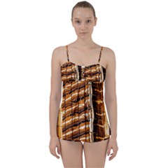 Abstract Architecture Background Babydoll Tankini Set