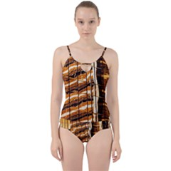 Abstract Architecture Background Cut Out Top Tankini Set