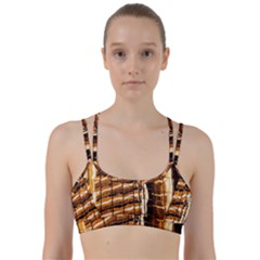 Abstract Architecture Background Line Them Up Sports Bra
