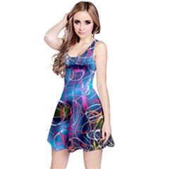 Background Chaos Mess Colorful Reversible Sleeveless Dress