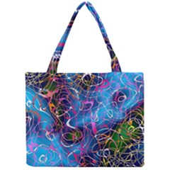 Background Chaos Mess Colorful Mini Tote Bag
