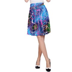Background Chaos Mess Colorful A Line Skirt