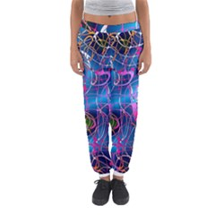 Background Chaos Mess Colorful Women s Jogger Sweatpants