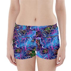 Background Chaos Mess Colorful Boyleg Bikini Wrap Bottoms