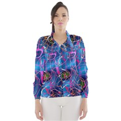 Background Chaos Mess Colorful Wind Breaker (women)