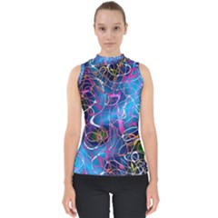 Background Chaos Mess Colorful Shell Top