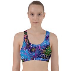 Background Chaos Mess Colorful Back Weave Sports Bra