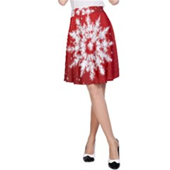 Background Christmas Star A Line Skirt