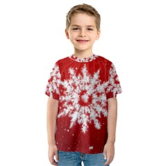 Background Christmas Star Kids  Sport Mesh Tee