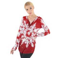 Background Christmas Star Tie Up Tee