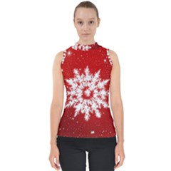 Background Christmas Star Shell Top