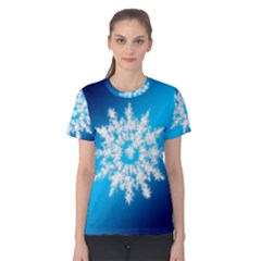 Background Christmas Star Women s Cotton Tee