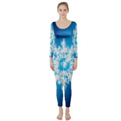 Background Christmas Star Long Sleeve Catsuit