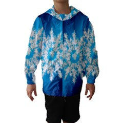 Background Christmas Star Hooded Wind Breaker (kids)