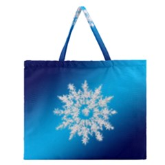 Background Christmas Star Zipper Large Tote Bag