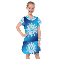 Background Christmas Star Kids  Drop Waist Dress