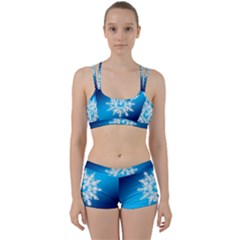 Background Christmas Star Women s Sports Set