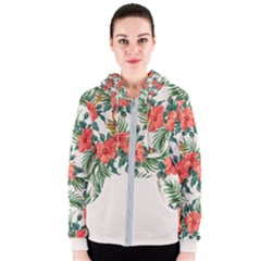 Tropical Flower2 Women s Zipper Hoodie