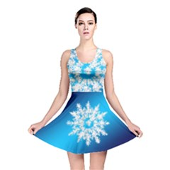 Background Christmas Star Reversible Skater Dress