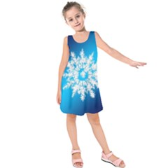 Background Christmas Star Kids  Sleeveless Dress